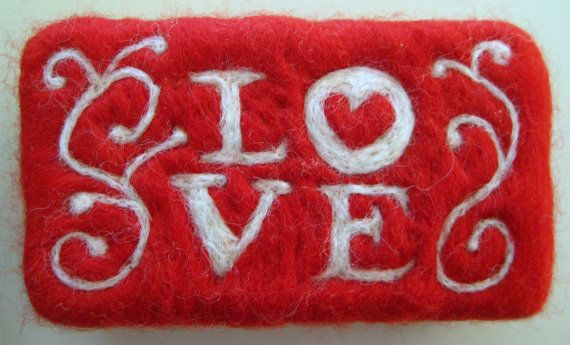 This is a lovely needle felted soap bar made from cold processed olive, palm, and coconut oil soap and Merino wool roving. Lovingly needle