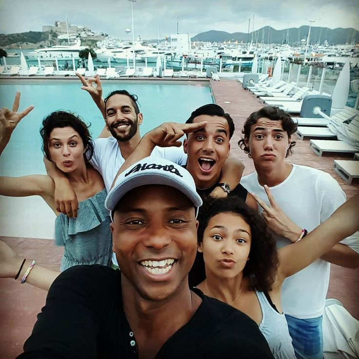 From Facebook Humberto Tan (August 1 2015) Holiday in Ibiza. In front Humberto Tan. Behind him from left Fockeline Ouwerkerk, Achmed Akkabi, Timor Steffens, Niek Roozen and Julia Tan.