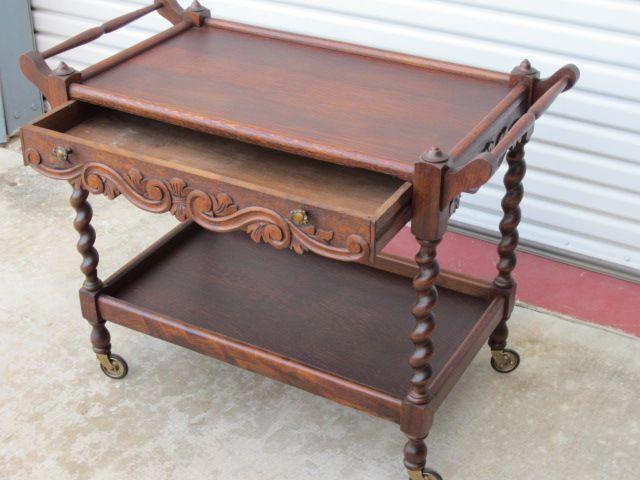 French Antique Tea Cart Serving Table Antique Furniture