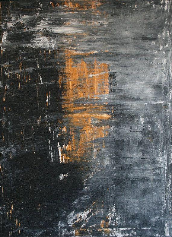 Mist over Light. Textured Acrylic on canvas, 73x100cm