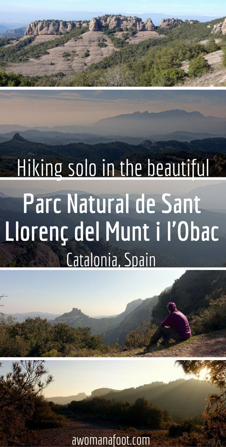 A wonderful destination for solo hikers and nature lovers in Catalonia, Spain: Parc Natural de Sant Llorenç del Munt i l'Obac. awomanafoot.com #Catalonia | #Spain | #hiking | #trail | #travel | #solo | #mountains