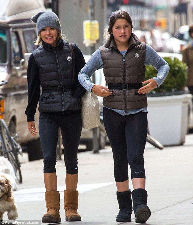 Cute coordination!Talk show host Kelly Ripa and her daughter Lola, 12, hit the gym in New York on Sunday wearing matching ensembles
