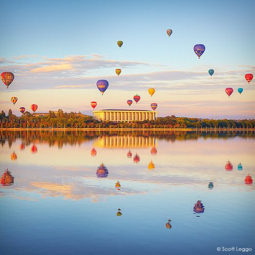 Balloons over Canberra, Australia.                                                                                                                                                                                 More