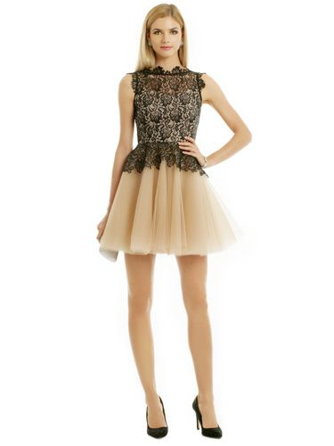 Lace-y  With Ballerina Skirt nha khan karla dress, rent the runway