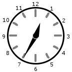 Analog Clock at 12:35