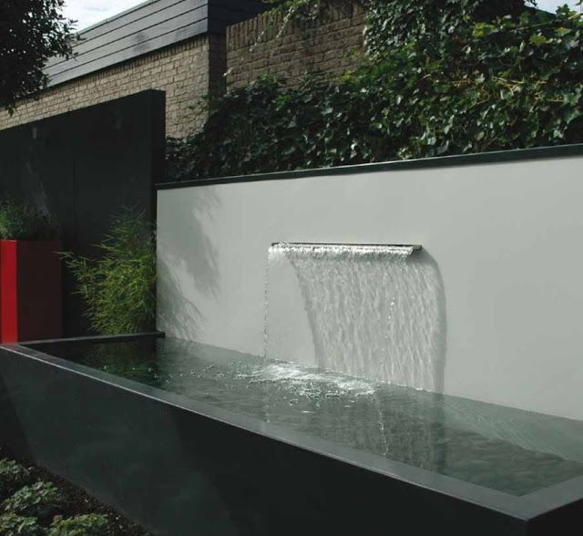 16 Enchanting Modern Entrance Designs That Boost The: 11 Best Images About Water Features On Pinterest