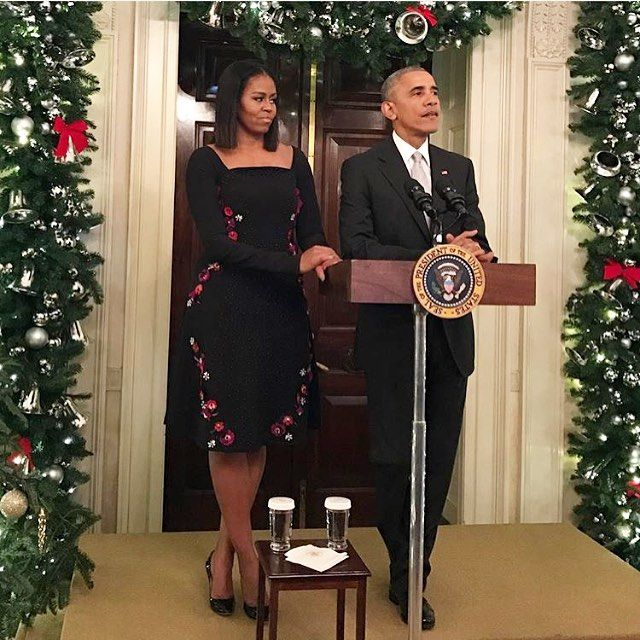 "2,586 Likes, 75 Comments - Tanya Taylor (@tanyataylor) on Instagram: ""When it's your birthday and #MichelleObama wears you for her final #WhiteHouse holiday party it's a…"""