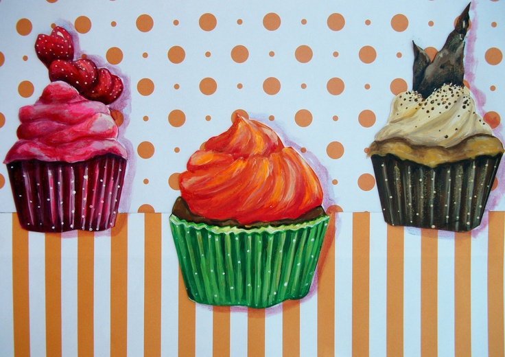 Handcrafted Cupcake Kitchen Decor. $45.00, via Etsy.
