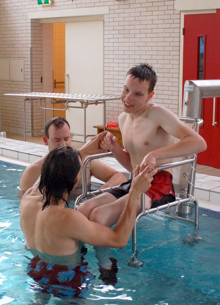Zwembad met hydraulische lift van het Bio Vakantieoord
