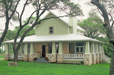 32 best images about hill country homes on pinterest for Hill country house plans with wrap around porch