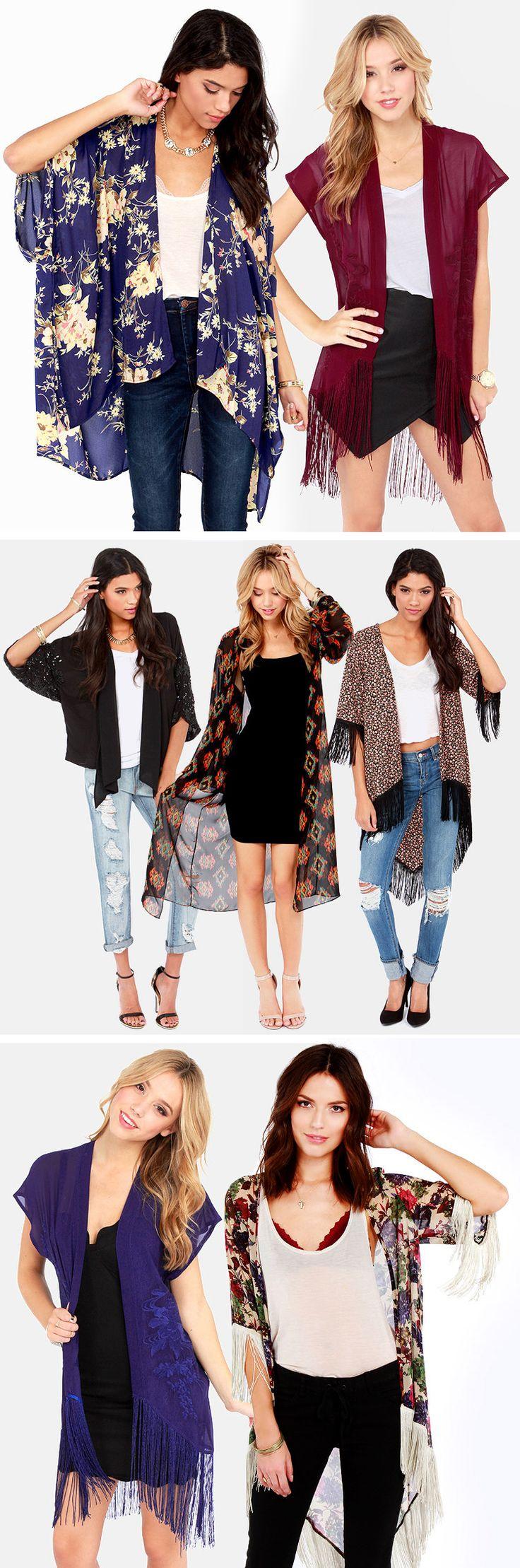 Kimono Tops via lulus.com #boho
