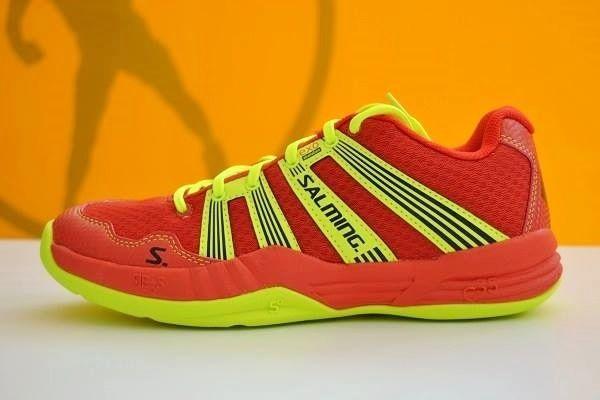 Nuevas Salming R2 2.0 (rojo-amarillo lima). Ya disponibles en nuestra tienda física y online www.puntofuerte.es ¡Hazte con ellas! #zapatillas #balonmano #Salming