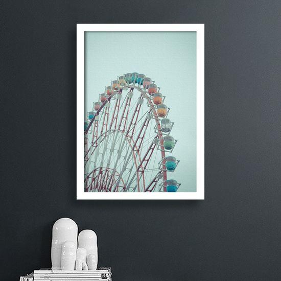 Πίνακας ρόδα λούνα-παρκ. Σίγουρα θα τον λατρέψουν όλες οι ηλικίες! #artphotos #πίνακας #lunapark #ρόδα
