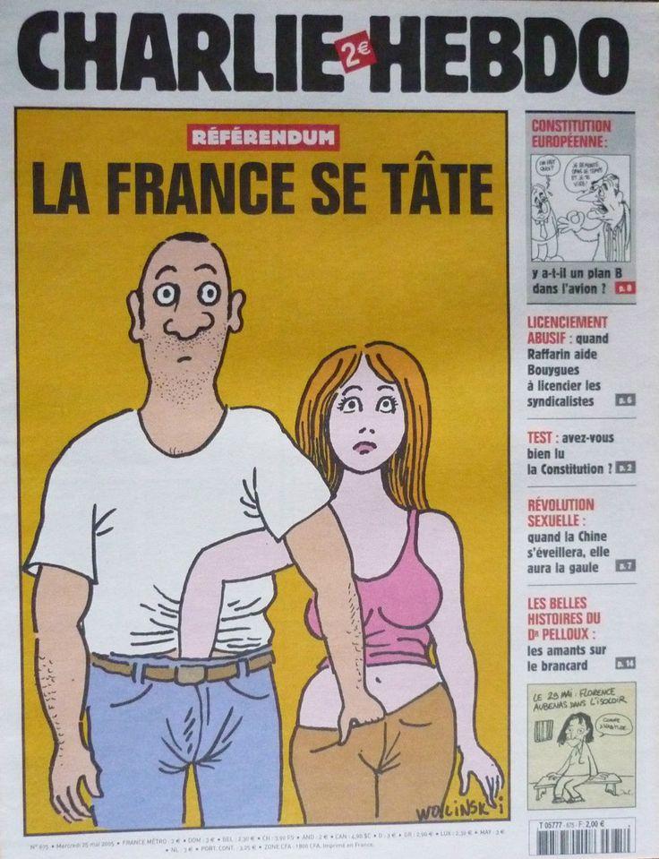 Charlie Hebdo - # 675 - 25 Mai 2005 - Couverture : Wolinski