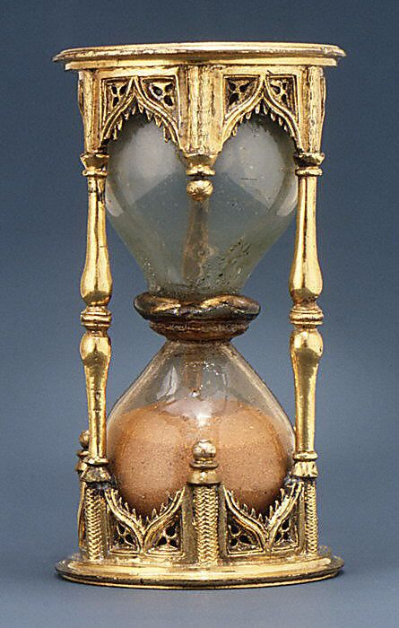 Sand Glass, Half-Hour  Date: first quarter 16th century Culture: German Medium: Bronze-gilt and silver-gilt