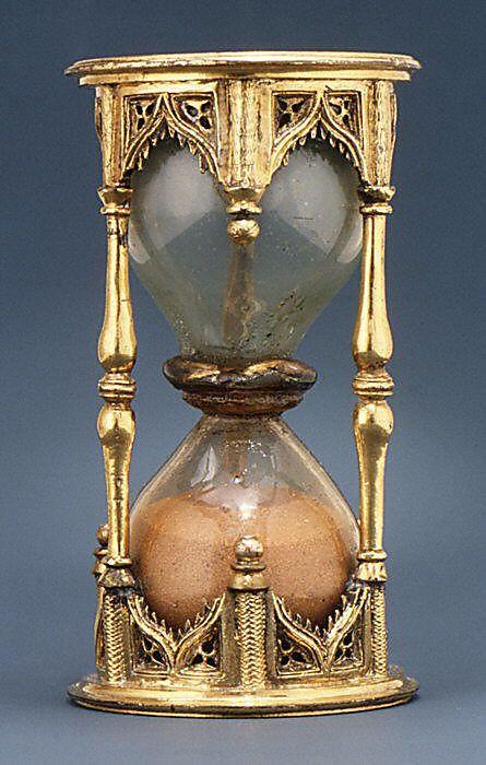 Sand Glass, Half-Hour  Date: first quarter 16th century Culture: German Medium: Bronze-gilt and silver-gilt