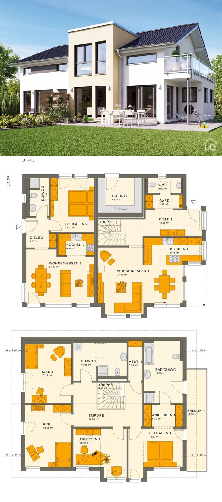 Two Family House with Granny Flat Modern Contempo…