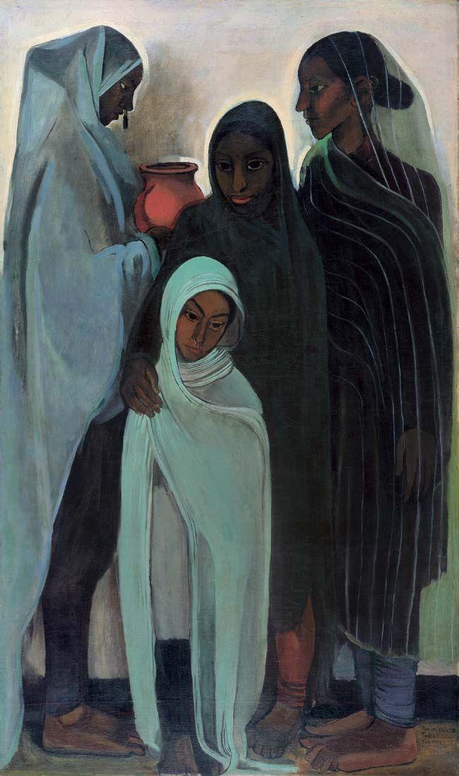 Amrita Sher-Gil, Hill Women, 1935, oil on canvas, Collection of Navina and Vivan Sundaram