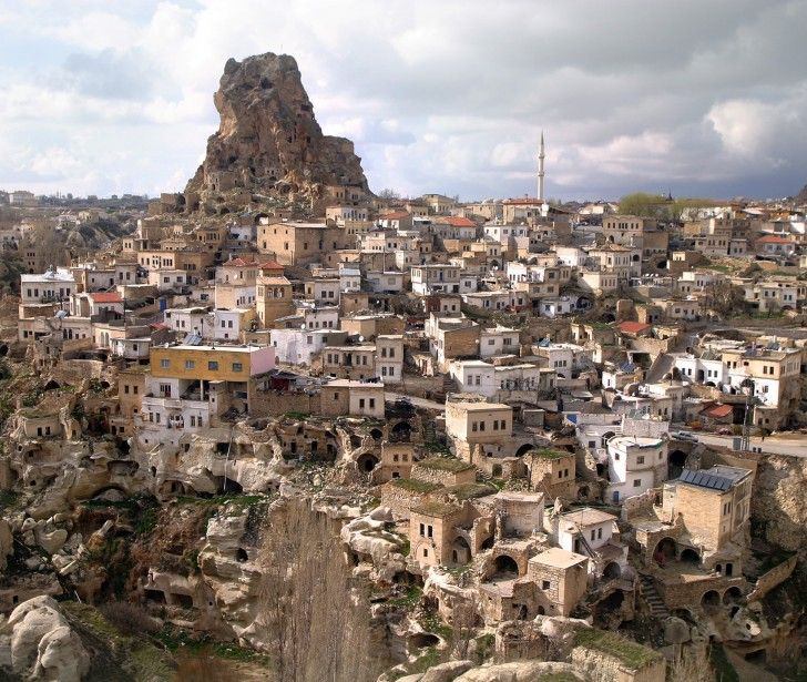 Ortahisar, Cappadocia, Turkey. Photo by Mila Zinkova.   http://beautifulplacestovisit.com/regions/cappadocia-turkey/