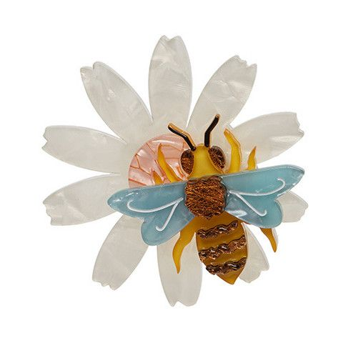 "Erstwilder Limited Edition Busy Bee Brooch. ""He doesn't mean to interrupt your picnic. It's just that he has a lot of pollen to collect today. A worker bee's work is never done."""