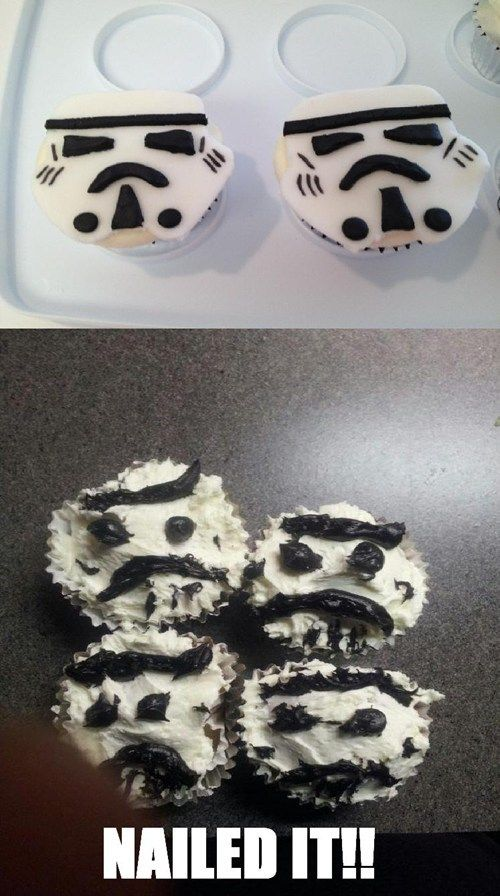 Tried to Make Stormtrooper Cupcakes...