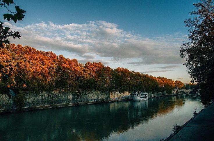 Enjoying the fall colors of Rome