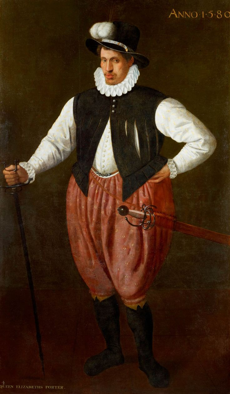 1580 Attributed to Cornelis Ketel Portrait of a giant Porter in service to Elizabeth I of England