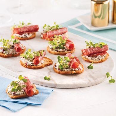 Canapés à la rosette de Lyon - Recettes - Cuisine et nutrition - Pratico Pratique