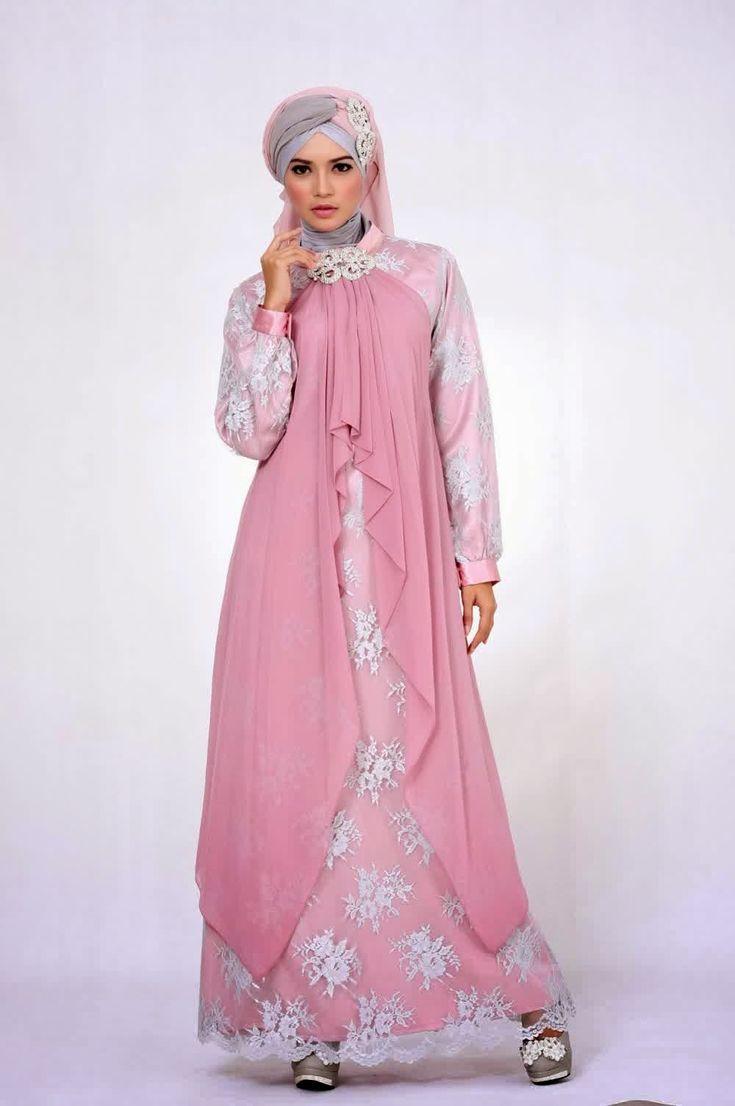 Gambar Model Baju Muslim Brokat Gamis  b2d3f7b183