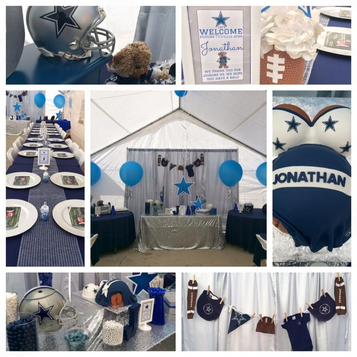 Dallas Cowboys Baby Shower Display Table   Candy Table   Setup    Decorations.