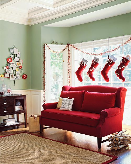 277 best images about christmas windows walls stairs for Hang stockings staircase