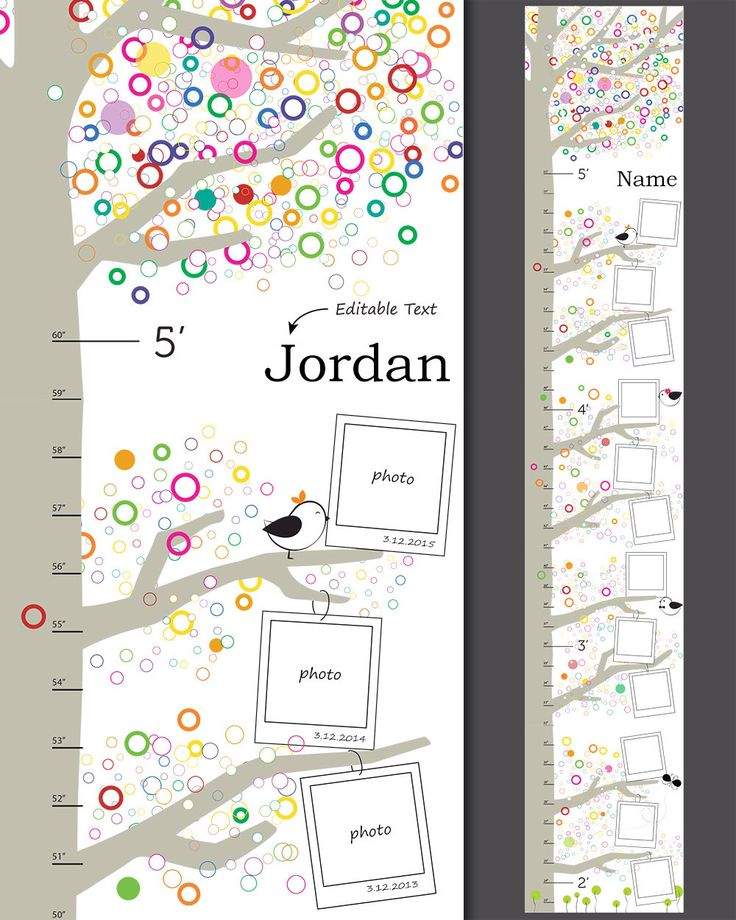 52 best growth charts images on pinterest growth charts for Growth chart for kids room