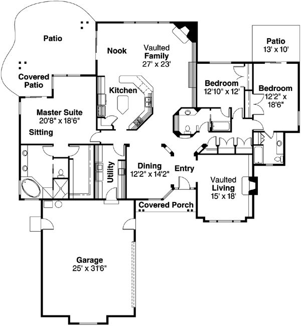 13 best images about small house plans on pinterest for Monster house plans ranch