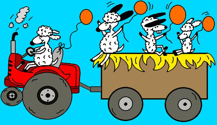 Church Fall Festival Hay Ride Coloring page and clipart images.