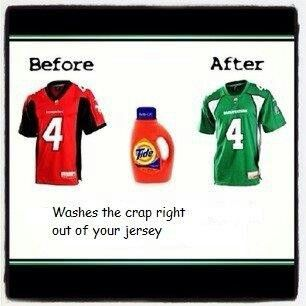 Washes the crap right out of your jersey .