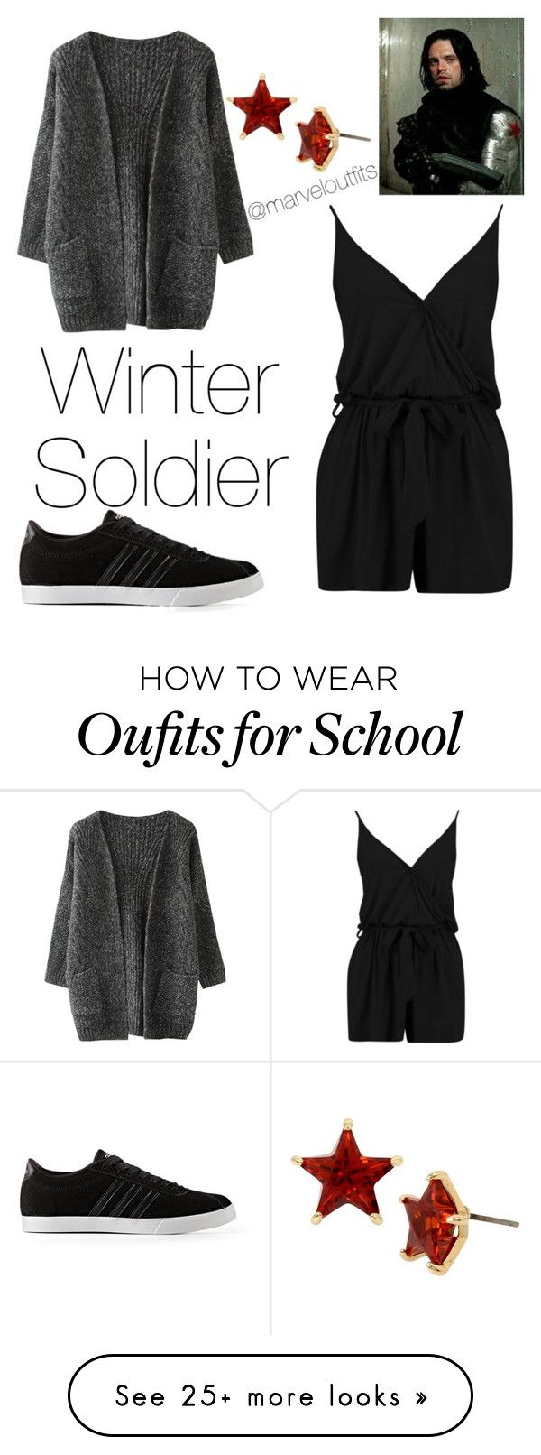 """Winter soldier"" by marvelousfilms on Polyvore featuring Boohoo, Betsey Johnson and adidas"