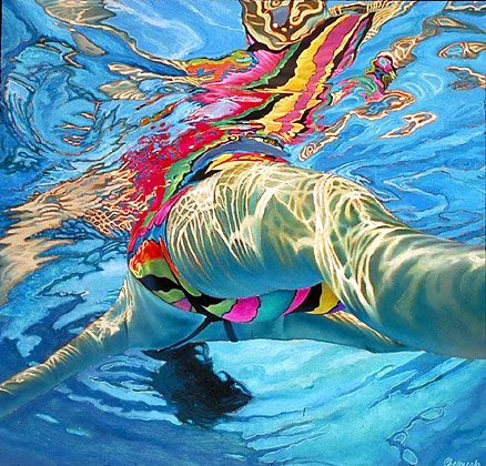 A painting by Lorraine Shemesh ( a fellow classmate at Boston University)