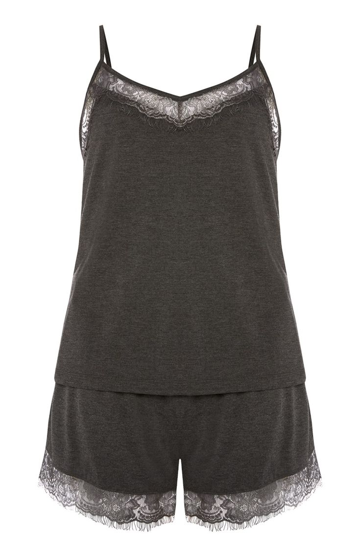 Primark - Charcoal Cami And Short