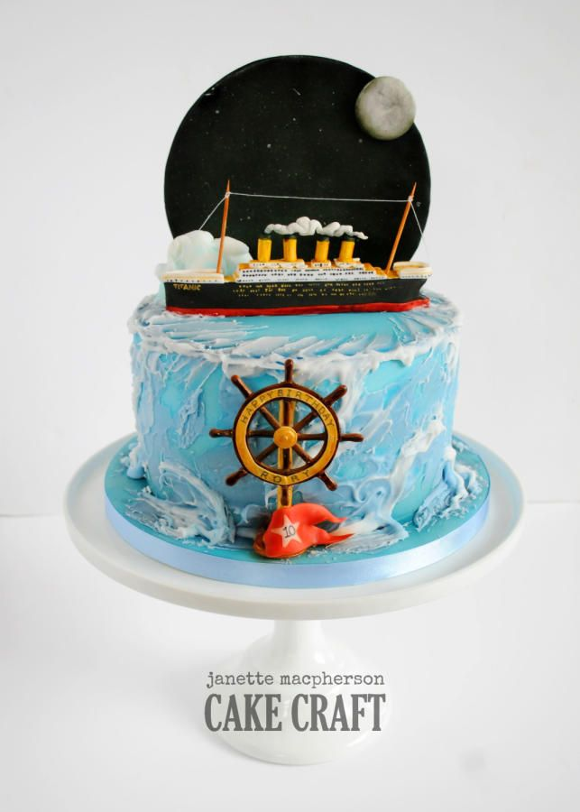 Titanic cake by Janette MacPherson Cake Craft