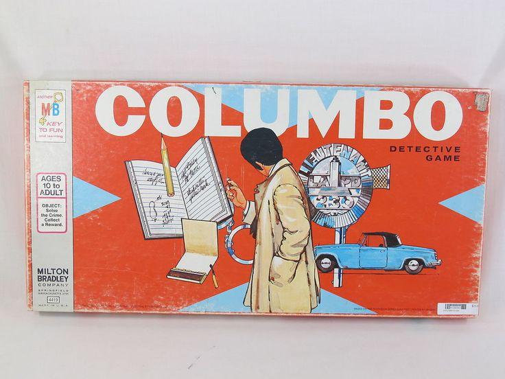 Columbo Detective 1973 Board Game Milton Bradley 100% Complete Excellent Plus #MiltonBradley