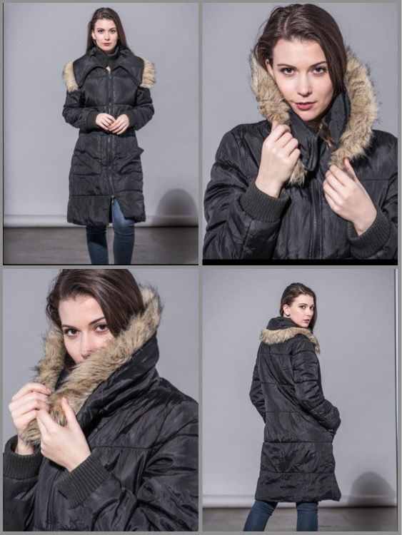Winter coat with fur lining