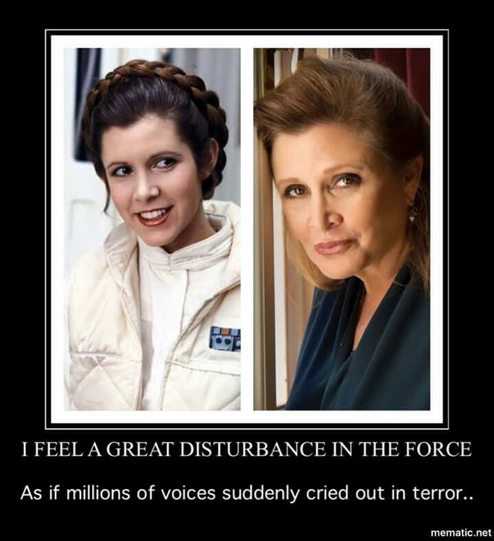 In terror, then in heartbreak. May the Force be with our General.