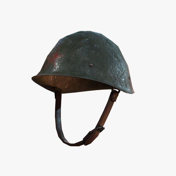 Combat Helmet Soviet Ww2 3D Model - 3D Model
