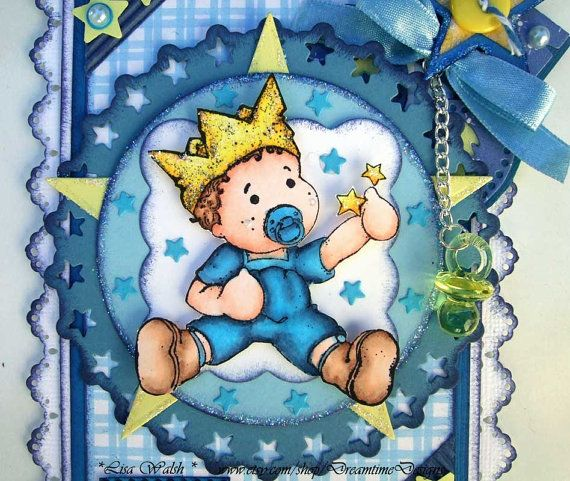 Skin: E0000, 000, 00, 11 Hair & boots: E50, 51, 53, 57 Outfit: B02, 93, 95, 97 Crown: Y00, 06, 08, 17  Baby Boy Premade Scrapbooking Border - Magnolia Edwin Papercraft Design - Dreamtime Designs