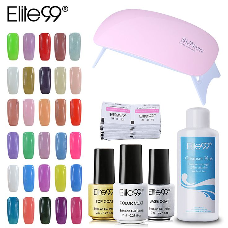 Elite99 Pick 3 Colors UV Gel Nail Polish USB Cable UV Lamp And Nail Cleanser Plus With Remover Wraps //Price: $29.70 & FREE Shipping //