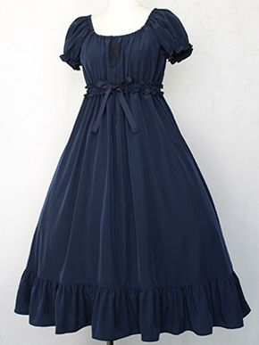 Victorian Maiden - Gather Frill Long Dress. Classic Country Lolita Gothic.