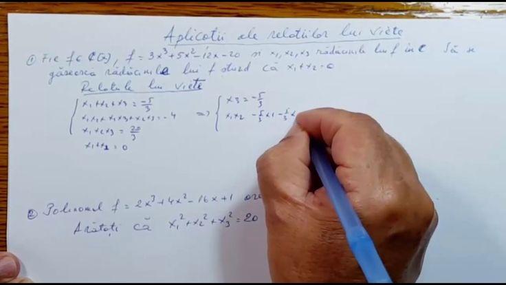 Aplicatii ale relatiilor lui Viete - Algebra - Clasa a XII-a 120304-02