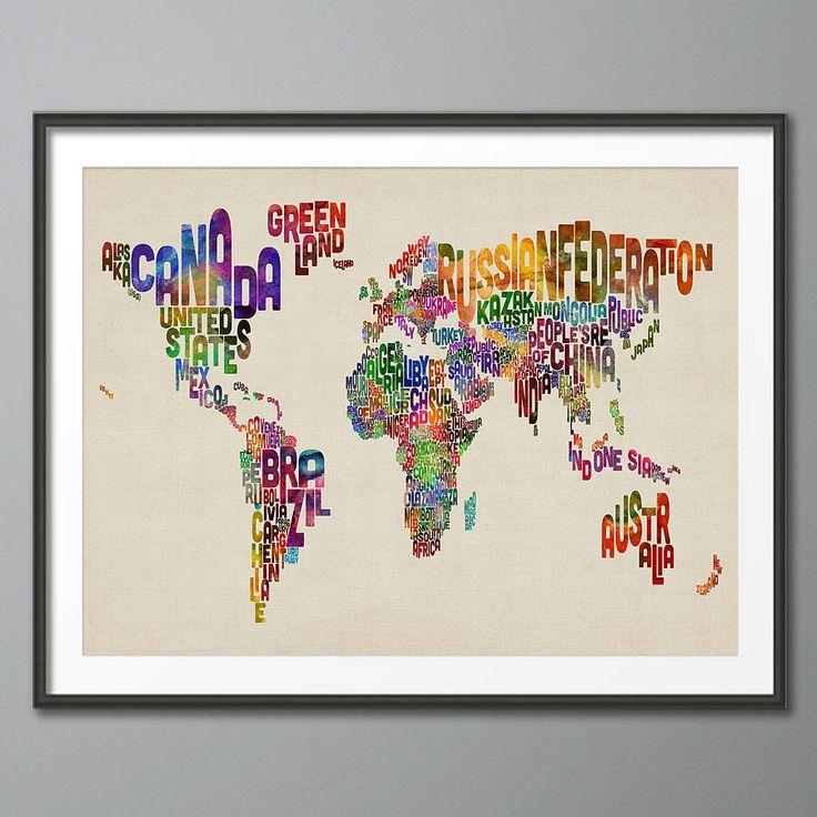 Michael Tompsett Typography World Map Best