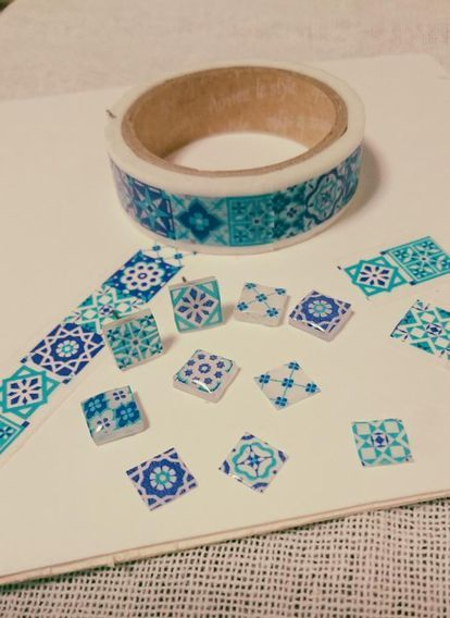 Cabochon washi tape craft