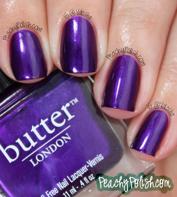 Butter London HRH purple mani manicure nails